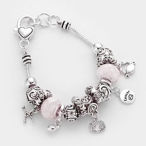 Multi-Bead Antique Style Cancer Zodiac Bracelet